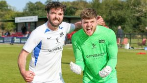 Liam Gavin and Chris Grace. Photo by Neil Graham.