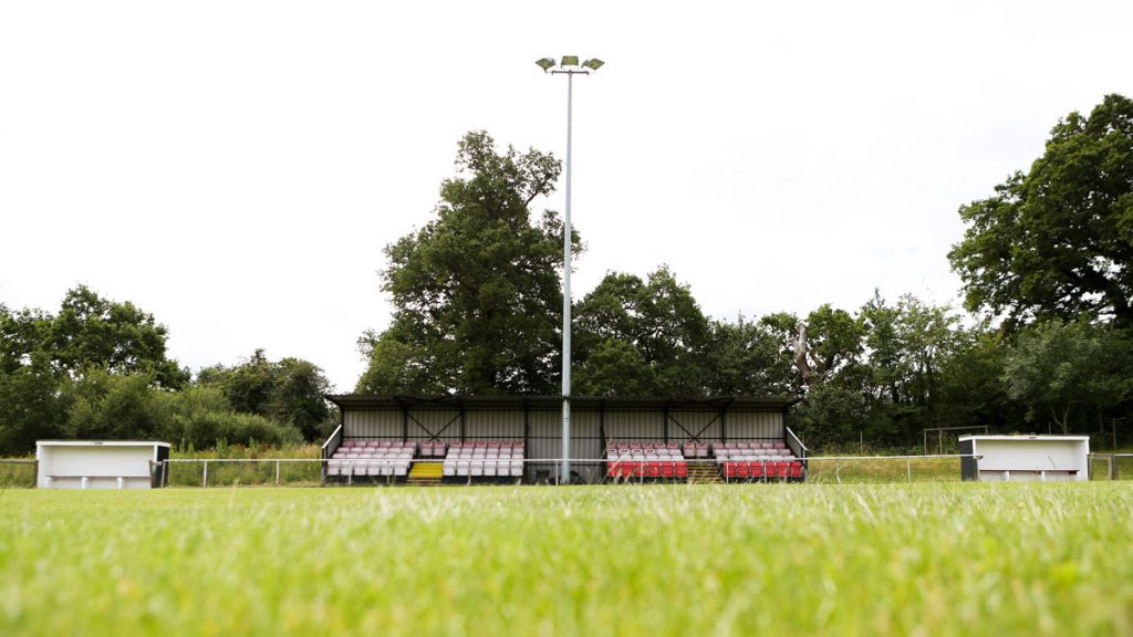 The main seated area at Binfield FC. Photo: Neil Graham / ngsportsphotography.com