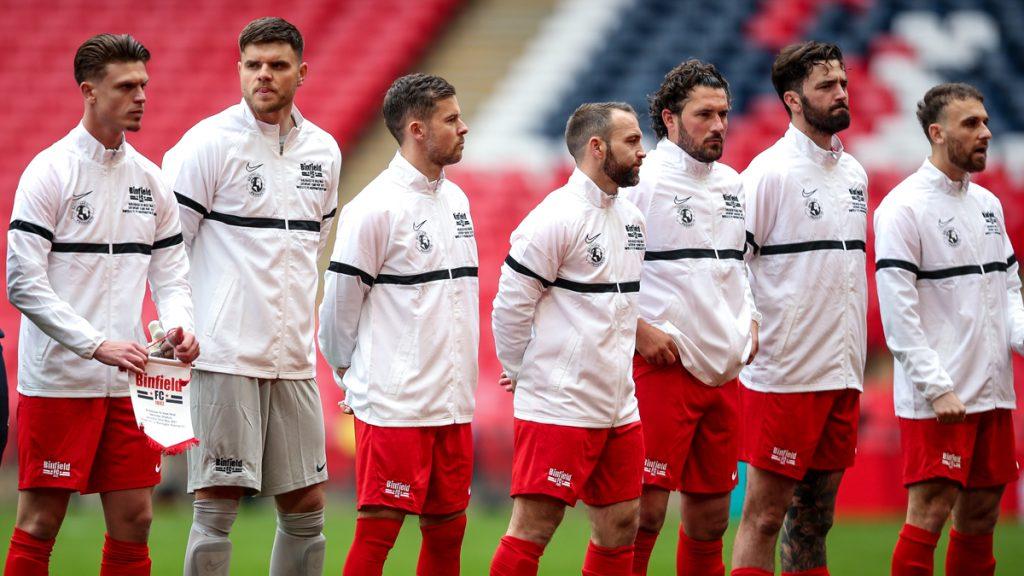 Binfield line up at Wembley. Photo: Neil Graham.